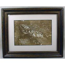 1924 KKK LABOR DAY PARADE PHOTO - FRAMED - Shows t