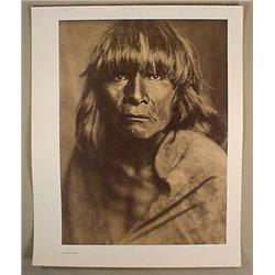 VINTAGE EDWARD S. CURTIS NATIVE AMERICAN INDIAN PR