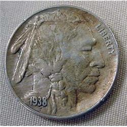 1938-D/S BUFFALO NICKEL - XF