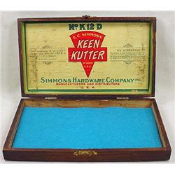 VINTAGE KEEN KUTTER ADVERTISING BOX - Approx. 9.25