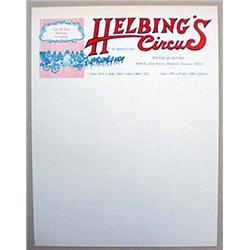 VINTAGE HELBING'S CIRCUS LETTER HEAD