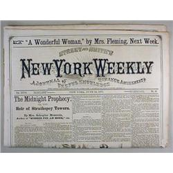 6-24-1872 NEW YORK WEEKLY NEWSPAPER - Incl. Story