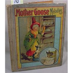 "1899 ""MOTHER GOOSE MELODIES"" HARDCOVER BOOK - Titl"