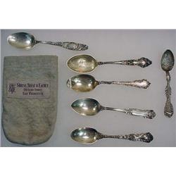 LOT OF 6 VINTAGE STERLING SILVER SPOONS - INCL. SO
