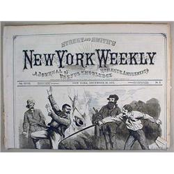 12-30-1872 NEW YORK WEEKLY NEWSPAPER - Incl. Thril