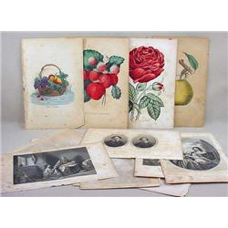 LOT OF 1861 HAND PAINTED LITHOGRAPHS AND ENGRAVING
