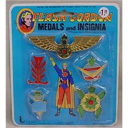 VINTAGE FLASH GORDON MEDALS AND INSIGNIA - NEVER O