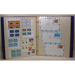 STAMP COLLECTION IN ALBUM - INCL. 1ST DAY COVERS