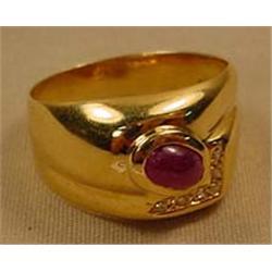 DIAMOND AND RUBY LADIES RING - Diamonds Tested. Ri