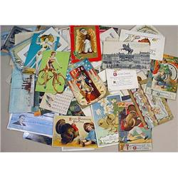 LOT OF APPROX. 65+ VINTAGE POSTCARDS AND MORE - In