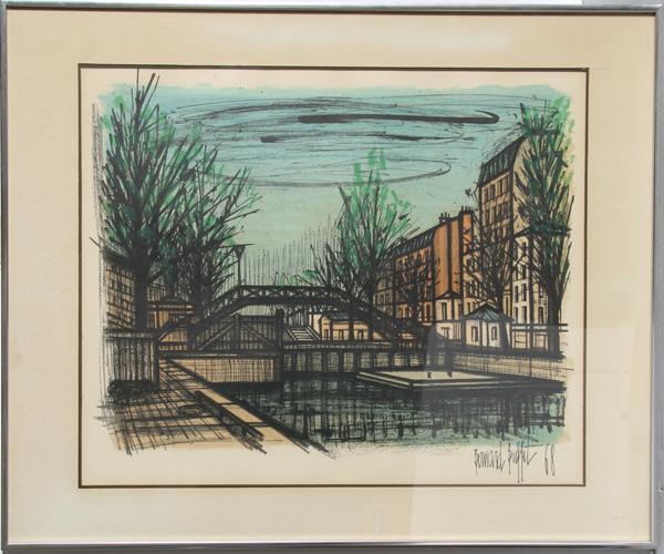 Super Bernard Buffet Canal St Martin Lithograph Download Free Architecture Designs Ferenbritishbridgeorg