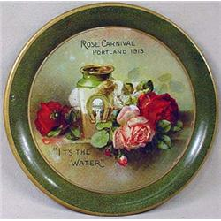 1913 PORTLAND ROSE CARNIVAL ADVERTISING TIP TRAY