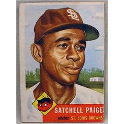 1953 TOPPS SATCHELL PAIGE BASEBALL CARD NO. 220