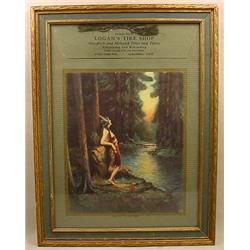 EARLY NATIVE AMERICAN INDIAN MAIDEN ADVERTISING PR