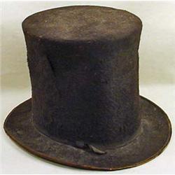 CIVIL WAR ERA TOP HAT / STOVE PIPE HAT - Approx. 8