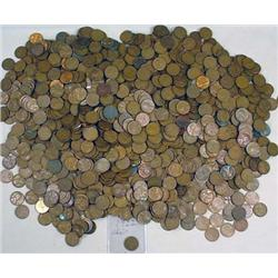 LARGE LOT OF LINCOLN PENNIES - MOST WHEAT - INCL.