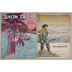 LOT OF 2 EARLY PCS. OF WESTERN SHEET MUSIC - LARGE