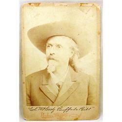 VINTAGE BRISBOIS BUFFALO BILL CODY CABINET CARD PH