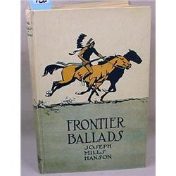 """1910 """"FRONTIER BALLADS"""" HARDCOVER BOOK - By Joseph"""