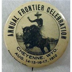 1912 CHEYENNE, WY FRONTIER CELEBRATION CELLULOID P