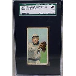 1910 T206 BASEBALL CARD - BILL SHIPKE, WASHINGTON