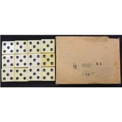 """LOT OF VINTAGE IVORY """"CHEATER"""" DICE IN ORIG. BOX -"""