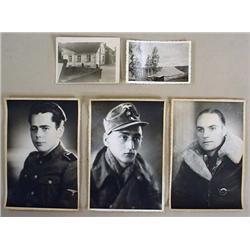 LOT OF 5 WW2 GERMAN NAZI PHOTOS - INCL. 3 LARGE PO