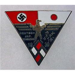 1939 WW2 GERMAN NAZI AND JAPANESE ENAMELED PINBACK