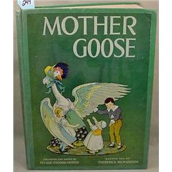 """1915 """"MOTHER GOOSE"""" VOLLAND EDITION HARDCOVER BOOK"""