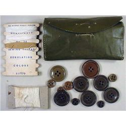 WW2 US BACKPACK SEWING KIT W/ CONTENTS