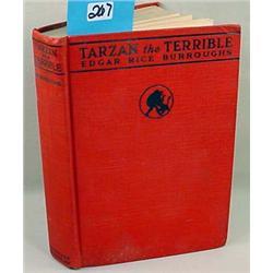 """1921 """"TARZAN THE TERRIBLE"""" HARDCOVER BOOK"""