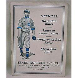 C. 1910'S OFFICIAL BASEBALL RULES BOOKLET - SEARS