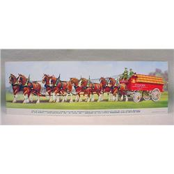 C. 1940'S BUDWEISER CLYDESDALES DOUBLE ADVERTISING