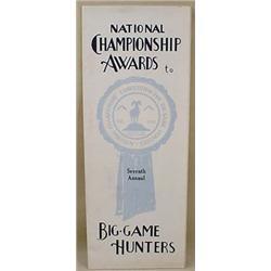 1938 BIG GAME HUNTERS AWARDS BROCHURE W/ TROPHYS P