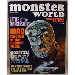 1964 MONSTER WORLD MAGAZINE NO. 1 W/ WOLFMAN COVER