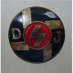 WW2 ERA GERMAN HUNTING ASSOCIATION ENAMELED PINBAC