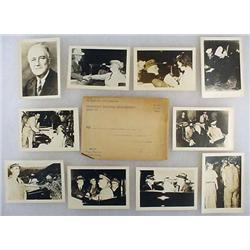 C. 1940'S SET OF 10 PHOTOS OF FRANKLIN D. ROOSEVEL