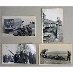 LOT OF 4 WW2 GERMAN NAZI PHOTOS SEIZED BY RUSSIANS
