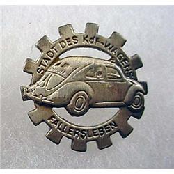 WW2 ERA GERMAN VOLKSWAGEN WORKERS PINBACK