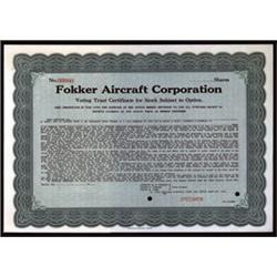 Fokker Aircraft Corporation.