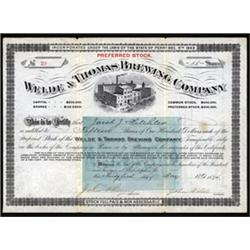 Welde & Thomas Brewing Company.