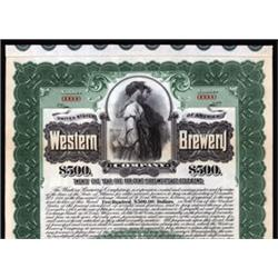 Western Brewery Co. With Well Known  Reaper  Vignette.