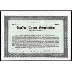 Houdini Picture Corporation Voting Trust Certificate