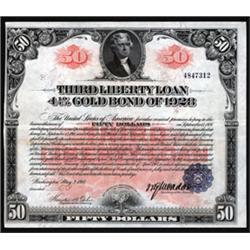 Third Liberty Loan 4 1/4% Gold Bond of 1928.