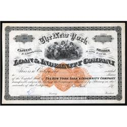 New York Loan & Indemnity Company Stock with RN-U1.