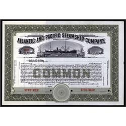 Atlantic and Pacific Steamship Company Specimen Stock.