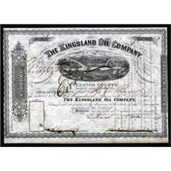 Kingsland Oil Company, Venango County Stock Certificate.