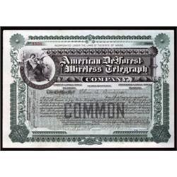 American DeForest Wireless Telegraph.