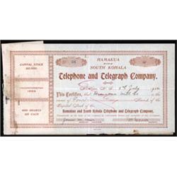 Hamakua and South Kohala Telephone and Telegraph Company, Limited.