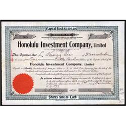 Honolulu Investment Company, Limited.